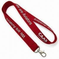 Felt Lanyard with 3mm Thickness and Silkscreen Printing Manufactures