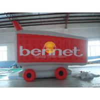 Waterproof Custom Shopping Cart Shaped Balloons with 0.18mm PVC for Outdoor Advertising Manufactures