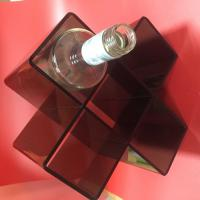 Black Acrylic Displa Stands For Wine Bottle Storage 10 x 10 x 10 cm Hole ISO9001