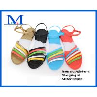 China Cheapest girls fancy chinese no heel sandals for 2014 ASM-015 36-41# on sale