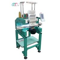Multi-color Single Head Cap / Shirt Embroidery Machine With Auto Trimming Manufactures