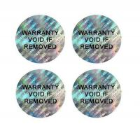 3D Self-VOiding Tamper Resistant Hologram Warranty Labels with Consecutive Barcodes Stickers Manufactures