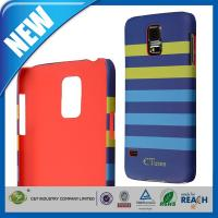 Dual Color Stripes Pattern Hard Samsung Cell Phone Cases For Galaxy S5 Manufactures
