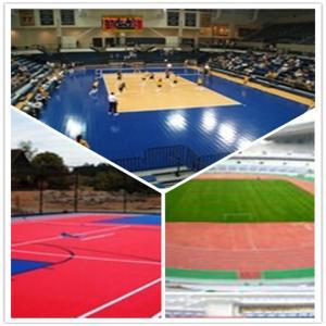 3W outdoor basketball court / suspend interlocking / pvc floor Manufactures