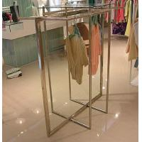 Stainless Steel Clothes Display Hanging Rack Metal Clothes Stand With ODM / OEM Service Manufactures