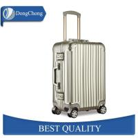 China Gold Full Aluminum Cabin Luggage Carrier With Universal Wheels Less Jointed Gap on sale