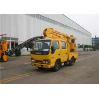 Buy cheap 5 Person KaiFan Brand 16M Telescopic Boom Aerial Work Platform Truck 3 Section 96kw from wholesalers
