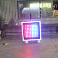 Safety Solar Warning Sign Aluminium Shell Traffic LED Flashing Signs