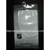 China Composited Clear Poly Bags for Short Pants , Plastic Hanger Bags on sale