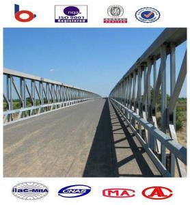 Compact Modular Steel Bridge Galvanized With Prefabricated Steel Manufactures