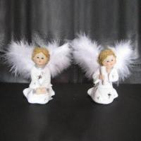 Polyresin Angels with Hand Painted and Hollowed Designs, Customized Sizes Welcomed Manufactures