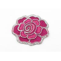 Clothing Appliques Flower Embroidery Patches Peony Pattern Exquisite Elegant Manufactures