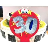 Pretty Colorful Balloon Shaped Printable Birthday Candles With Number And Cartoon Painted Manufactures