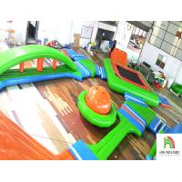 Customized Inflatable Water Parks 0.9mm Safety Environmental Protection Manufactures