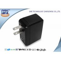 Portable USB Travel Adaptor Single Port 5v 0.5A Black Color For Cell Phone Manufactures