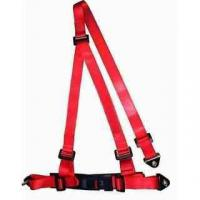 Buckle Style Red Racing Safety Belts With Bolts / 3 Point Retractable Seat Belts Manufactures