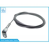 China Big Pull Stainless Steel Wire Rope Assembly With 90 Degree Bending Terminal  For Commercial Ceiling Lights on sale