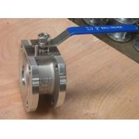 Quality wafer stainless steel ball valve full port blow-out proof stem flange end CF8 for sale