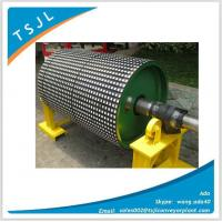 Ceramic rubber lagging pulley Manufactures