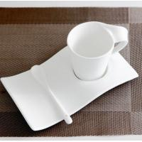 Certifiction SGS/CE/ROHS 3511 bone china coffee saucercoffee heating plate ash more than 45% hot plates for coffee k mug Manufactures