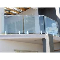 China Durable Toughened Glass Railing Interior Outside Glass Stair Railing on sale