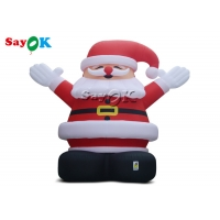 China 8m Outdoor Christmas Inflatable Santa Claus Wearing A Red Hat on sale