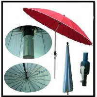 China Garden 2.5m Steel Wire Crank Large Patio Umbrellas / Patio Market Umbrella With Tilt on sale