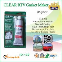 Waterproof Clear Non-Toxic RTV Silicone Sealant For Glass / Metal / Fabric Manufactures
