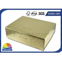 Embossing Textured Rigid Gift Box / Rigid Paper Box Packaging For Cosmetics Manufactures