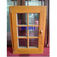 Space Saving Timber Casement Windows , Safety Wooden Double Glazed Windows energy saving Manufactures