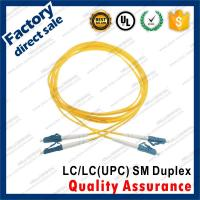 lc-lc/upc SM optic fiber patch cords for structure cabling BLUE connectors Duplex yellow pvc sheath jacket Manufactures