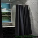 black vinyl Mildew Resistant peva shower curtain  Antibacterial with hooks pvc free Manufactures