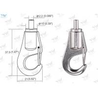Cable Bottom Exit Brass Cable Gripper / Self Gripping Hook For Picture Hanging System Manufactures