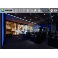 18 Persons 5D Movie Theater With Special Effect System 3DOF Pneumatic Motion Chairs Manufactures