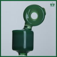 Buy cheap Imperial Green Glass Smoking Water Pipe Bubbler With 14.4mm Female Joint from wholesalers