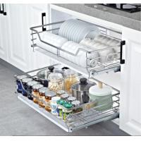Ball Bearing Slide System Kitchen Pull Out Basket With Excellent Weld Operation Manufactures