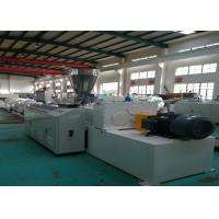 China Automatic Plastic Pipe Extrusion Line High Speed Conical twin screw extruder on sale