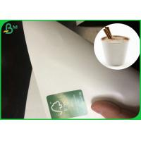 China Food Grade Full Hot Water White Pe Lamination Paper in Making Paper Cup on sale