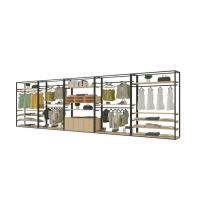 China Retro Exquisite Clothing Display Showcase With Steel Wood Combination Structure on sale