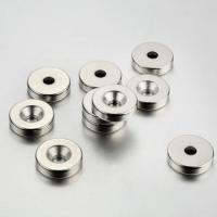 China Sintered NdFeb magnets with sunk hole on sale