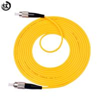 Yellow 3 Meter Upc Fc Sc Patch Cord , Fiber Optic Drop Cable Fc-Fc Custom Lengths Manufactures