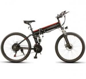 www.yolcart.com Samebike LO26 Smart Folding Moped Electric Bike E-bike - BLACK EU PLUG Manufactures