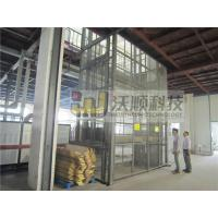 Electric guide rail hydraulic warehouse cargo lift / Outdoor lift elevators Manufactures