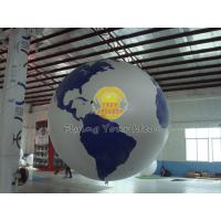 Quality Reusable Round Earth Globe Balloons with 170mm tether points for Entertainment events for sale