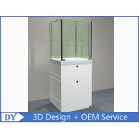 Custom  Big Size Gloss White Jewerly Display Cases With Cabinet Manufactures