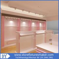 China Factory OEM Supplier mdf  wooden  in pink white lacquer Baby Girl Clothing Stores display furnitures on sale