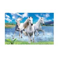Runnig Horse 3D Lenticular Pictures For House Decorative 0.6mmPET Manufactures