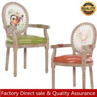 China Luxury wood arm chair for restaurant hotel vintage finish wood arm dining chair hot sale wedding chair on sale