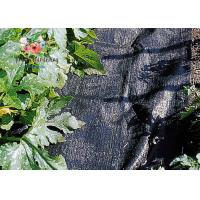 Black Garden Plant Accessories - Tear Proof Weed Block Fabric / Weed Control Fabric Manufactures
