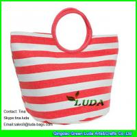 LUDA red paper straw hobo bags fashion straw handbags for women Manufactures
